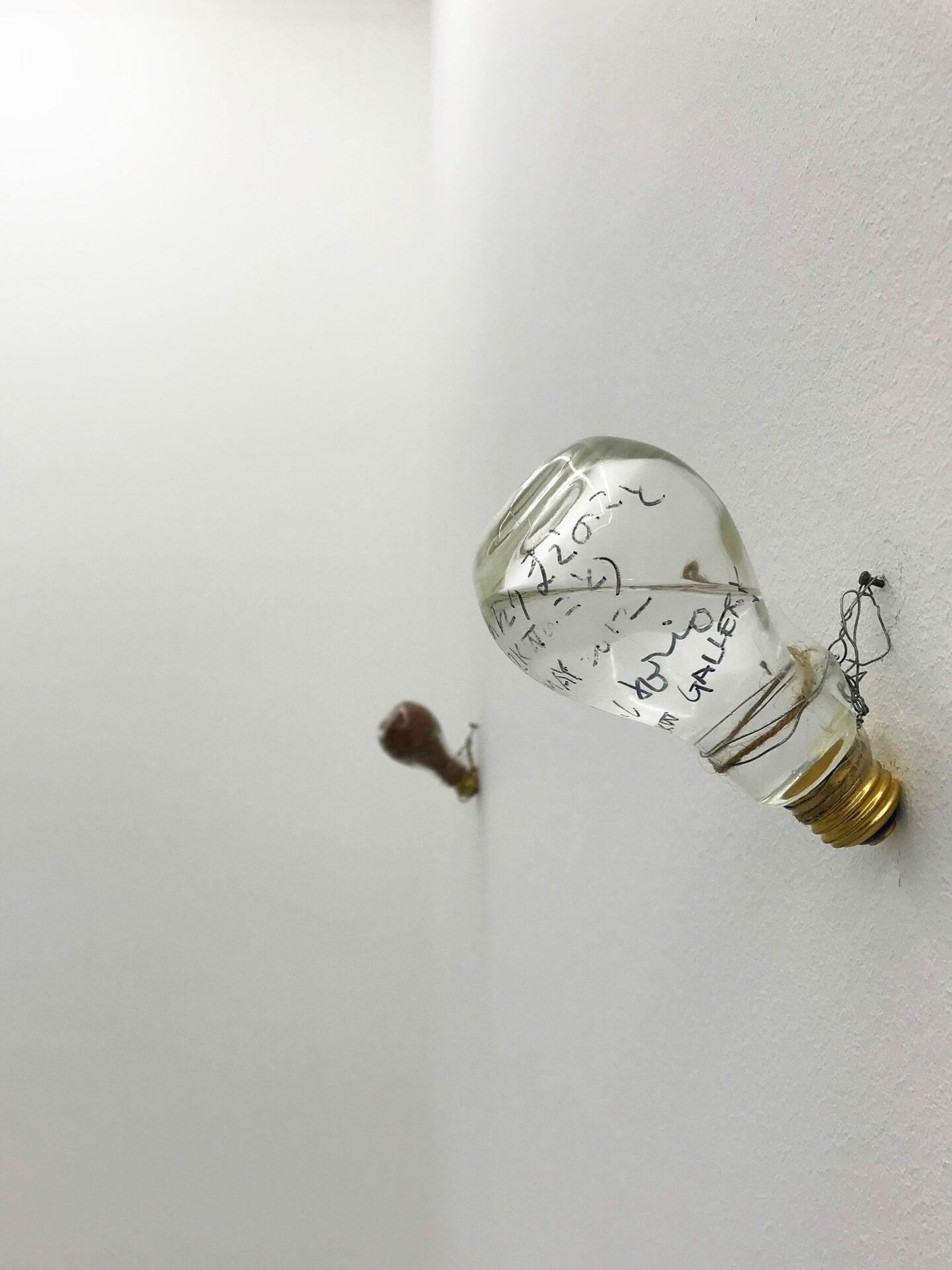 Sadaharu Horio, light bulb, basedonart gallery, Düsseldorf