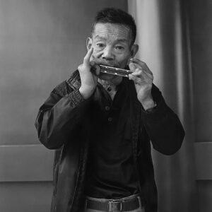 ©Hiro Kikai_ Persona_A man playing a tune he composed himself_1986_basedonart gallery