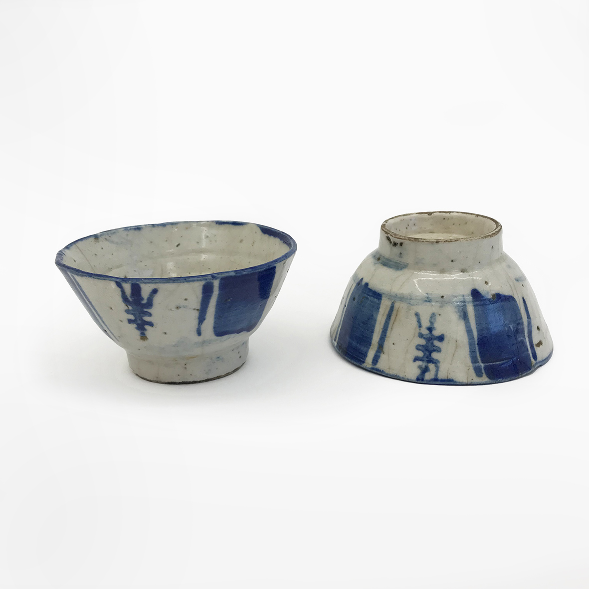 Sake cups | prob. Korea | ceramic | Joseon Dynasty | basedonart gallery