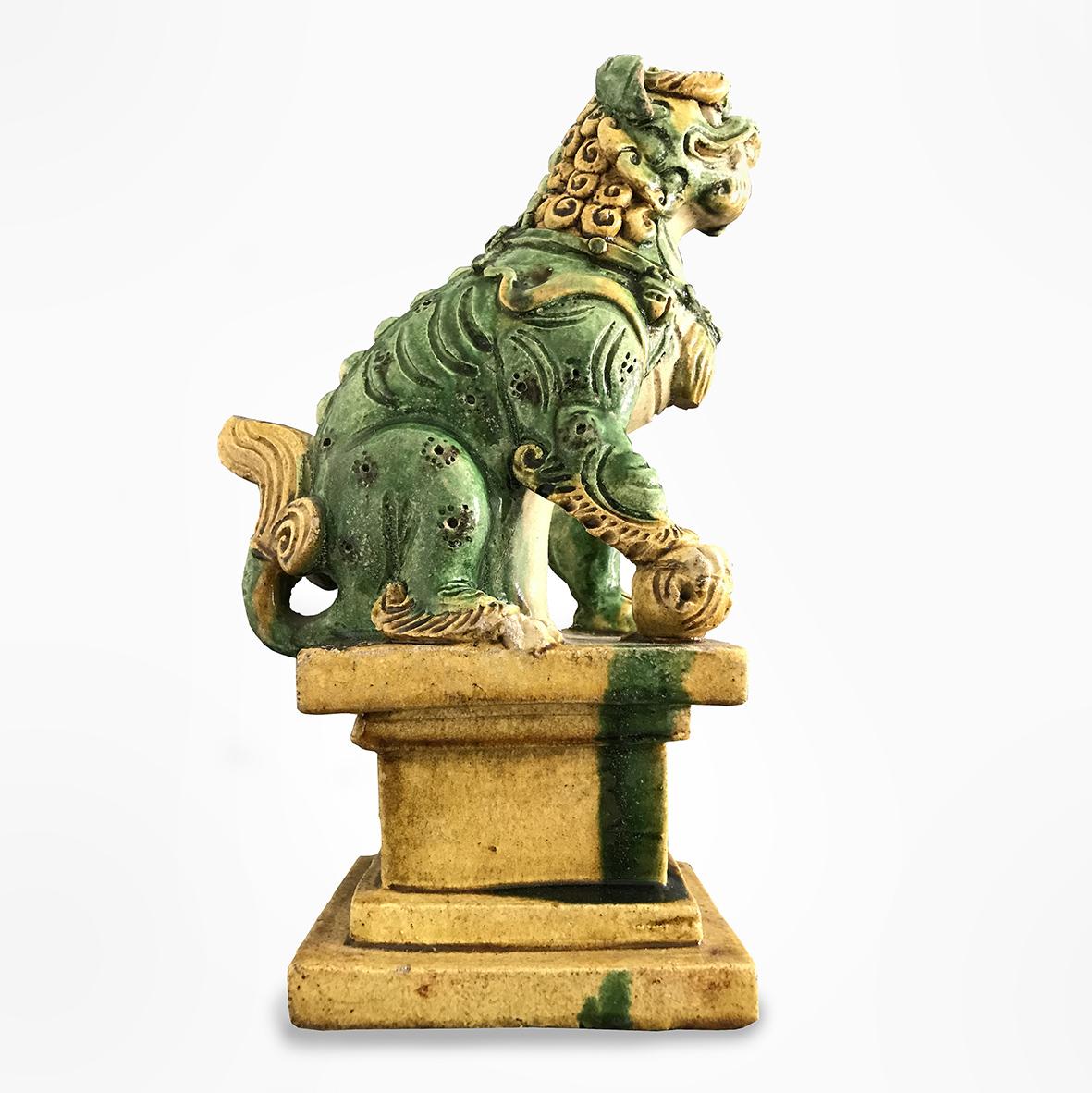 Sancai-glazed roof figure (lion)_basedonart gallery