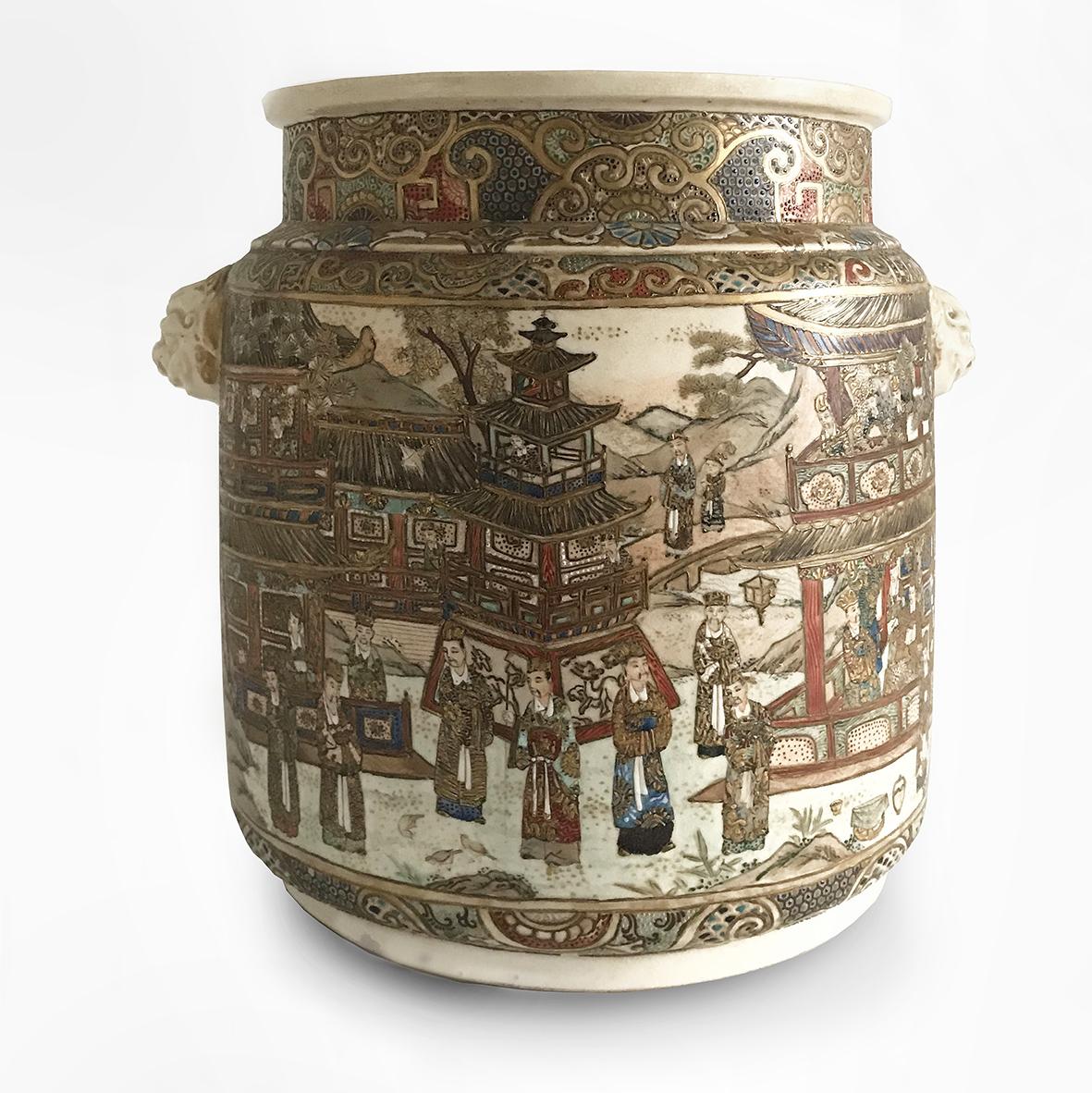 Satsuma jar | Ceramic | Japan |19th | japanese ceramic |basedonartgallery