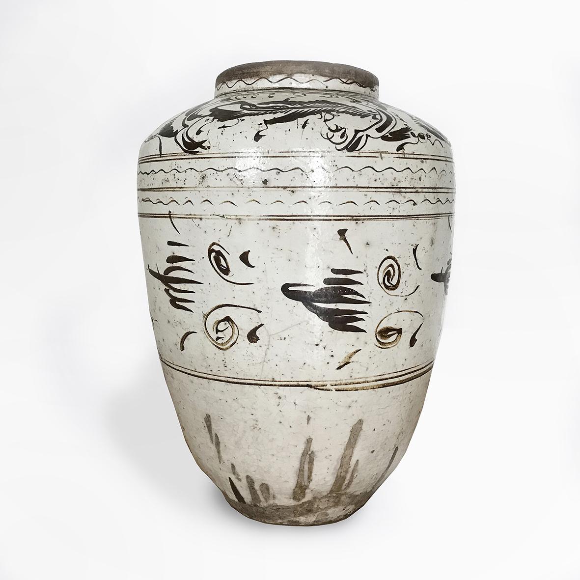 Huge Quingbai jar | ceramic | China | Ming Dynasty | basedonart gallery