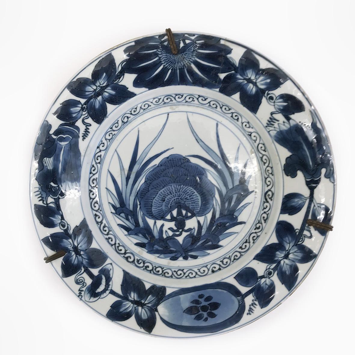 Blue and White Plate | Porcelain | China | Kangxi | basedonart gallery