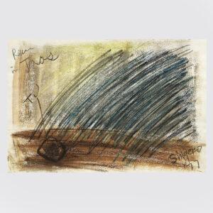 Shigeko Kubota | Where | Drawing | Pastels, pencil on paper | 1977 | basedonart gallery