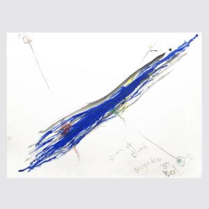 Shigeko Kubota | River of Blood | Drawing | Pastels, pencil on paper | 1980 | basedonart gallery