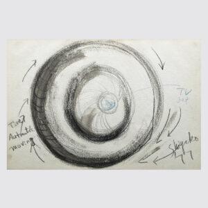 Shigeko Kubota | Tire Automatic Moving | Drawing | Pastels, pencil on paper | 1977 | basedonart gallery