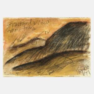 Shigeko Kubota | Structural Video Mountains | Drawing | Pastels, pencil on paper | 1977 | basedonart gallery