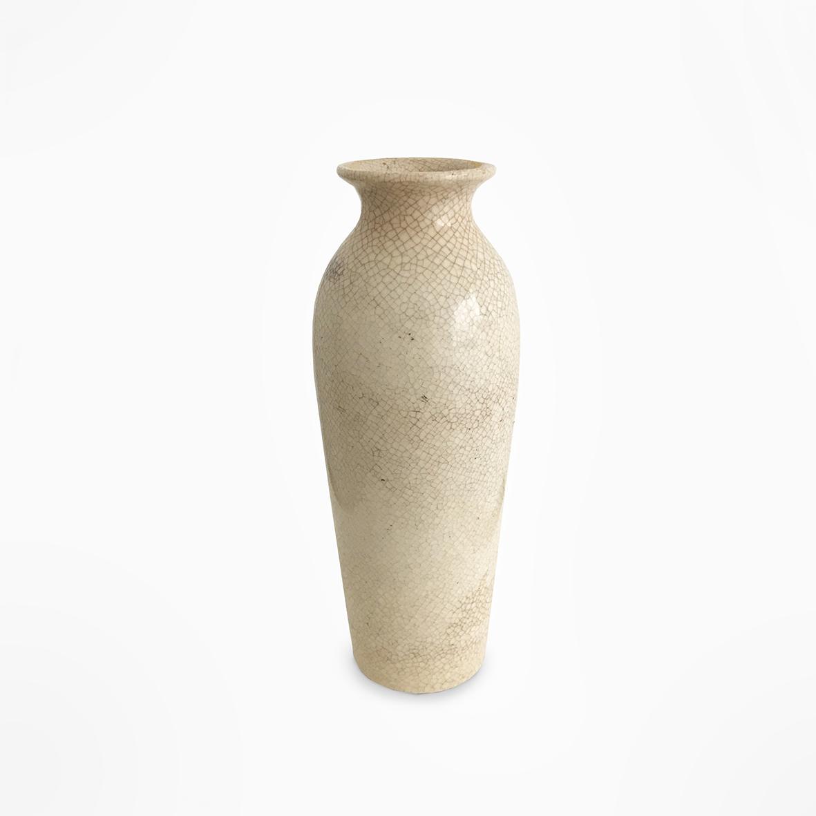Cracqueled vase | ceramic | China | Ming Dynasty | basedonart gallery