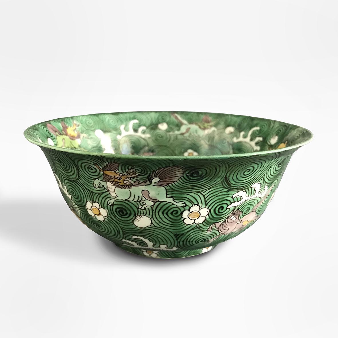Famille Verte bowl | porcelain | China | Kangxi | basedonart gallery