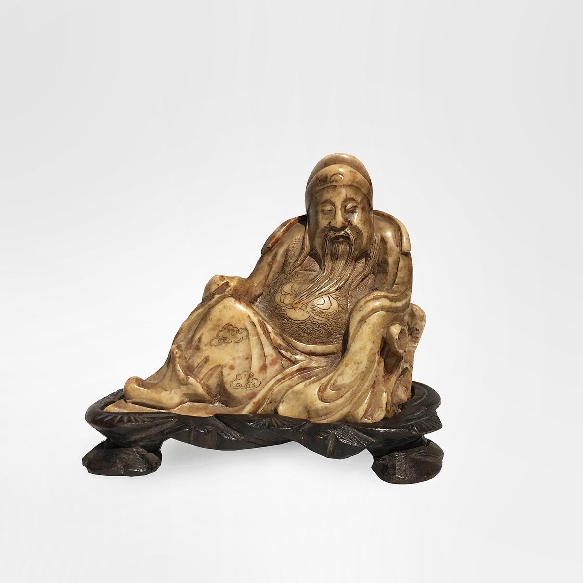 Zhongli Quan | Stone | China | Qing Dynasty | basedonart gallery