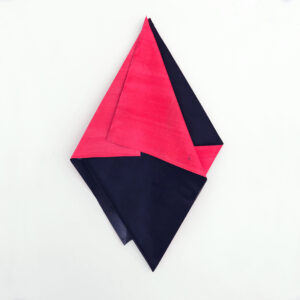 Anna Friedel | Pleated square (Quadratin) | acrylic paint, canvas | 2016/19 | 90 x 50 cm